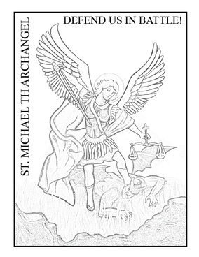 St Michael The Archangel Drawings Sketch Coloring Page